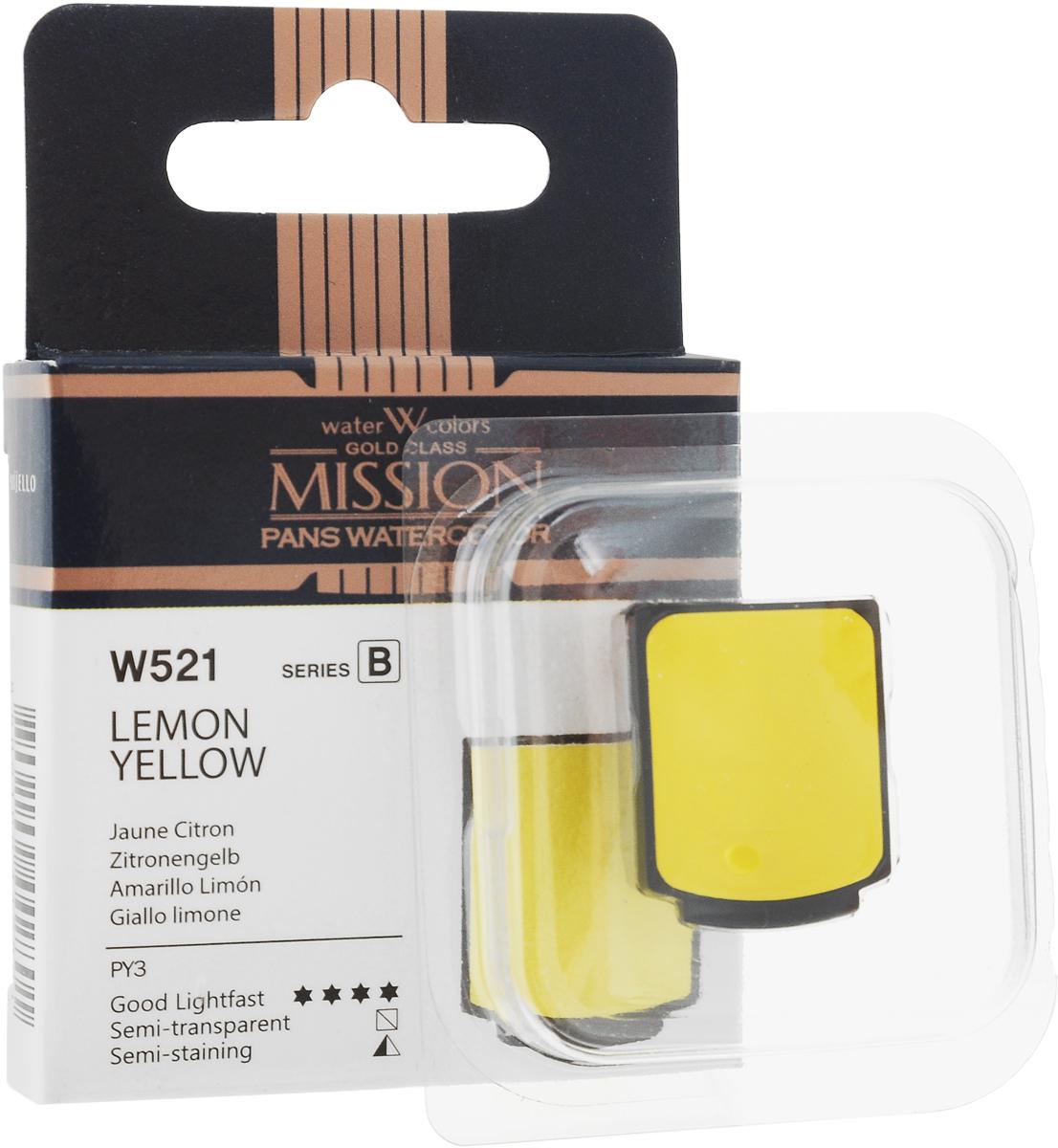 Фото - Mijello Акварель Mission Gold Pan W521 Желтый лимонный 2 мл MPW-W521 блок питания accord atx 1000w gold acc 1000w 80g 80 gold 24 8 4 4pin apfc 140mm fan 7xsata rtl