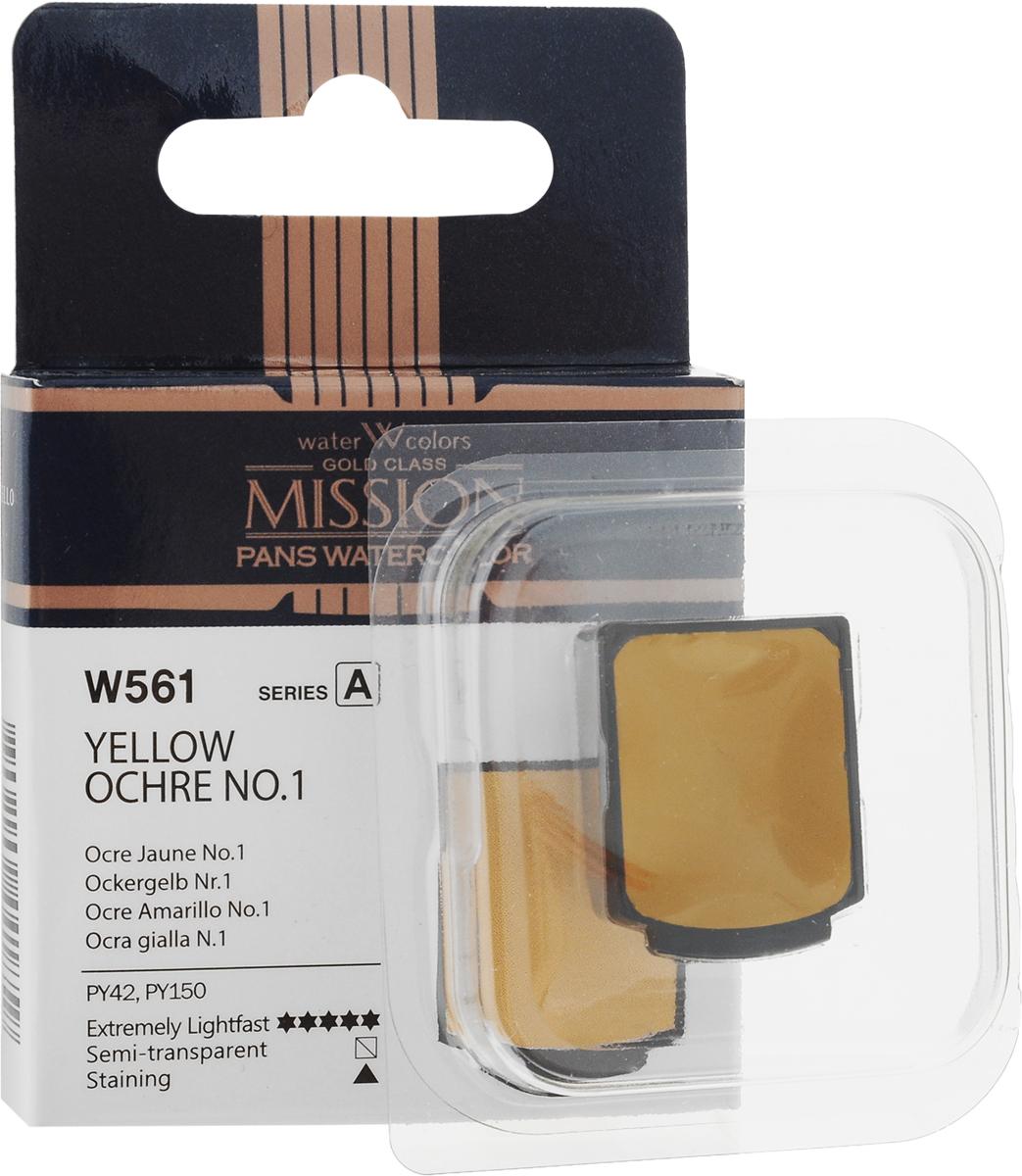Фото - Mijello Акварель Mission Gold Pan W561 Охра желтая 2 мл MPW-W561 блок питания accord atx 1000w gold acc 1000w 80g 80 gold 24 8 4 4pin apfc 140mm fan 7xsata rtl