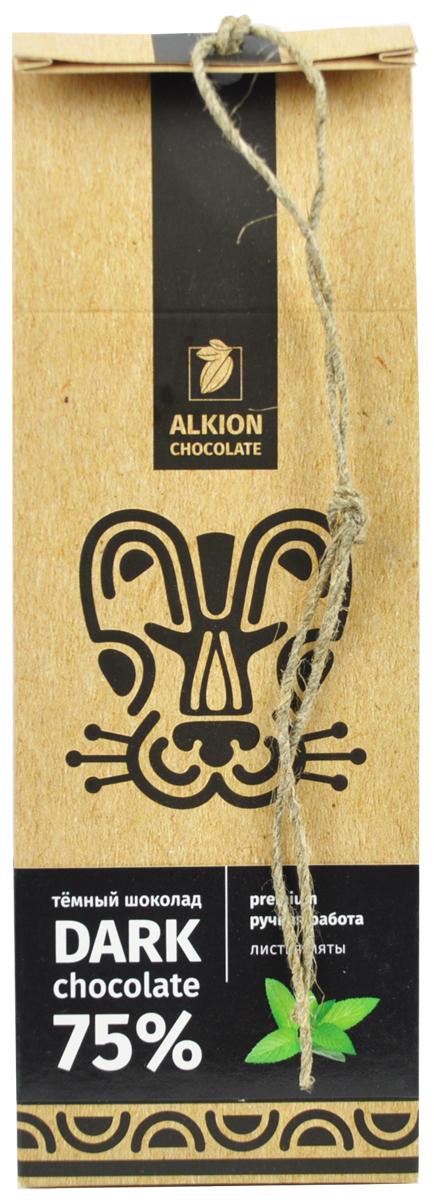 Alkion шоколад горький листья мяты, 100 г
