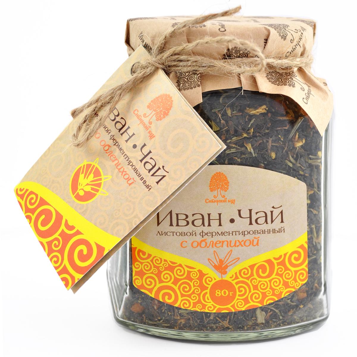 Чайный напиток Сибирский кедр Иван чай с плодами облепихи, 80 г иван чай с облепихой русский чай 75 г