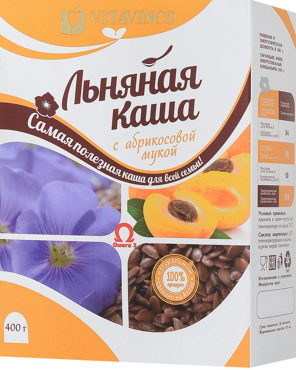 Витавинко каша льняная с абрикосовой мукой, 400 г