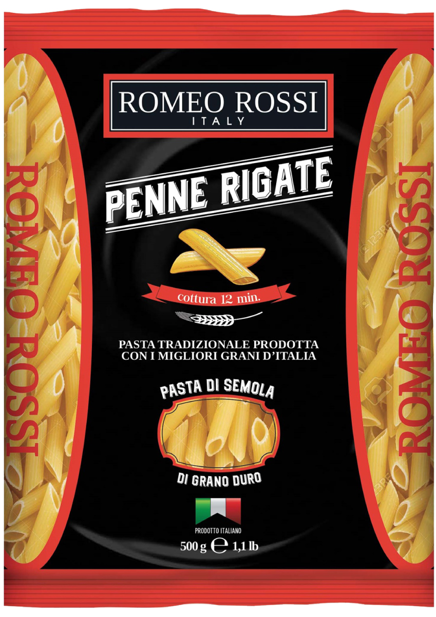 Romeo Rossi паста сицилийская из муки твердых сортов пенне, 500 г