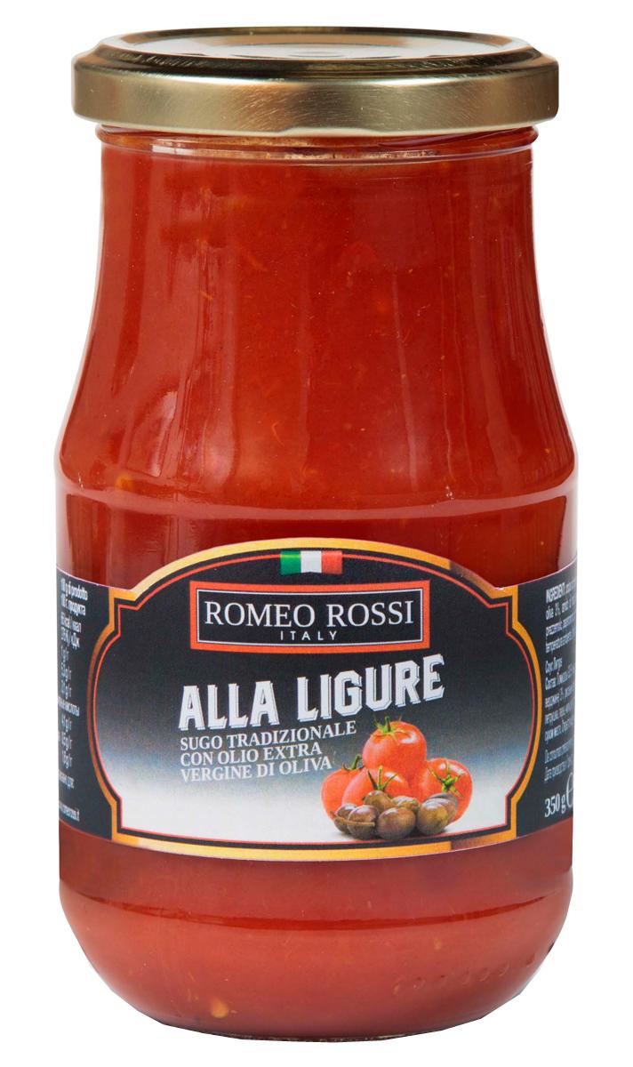 Romeo Rossi соус томатный для пасты Лигуре, 350 г romeo rossi соус томатный для пасты овощной 350 г