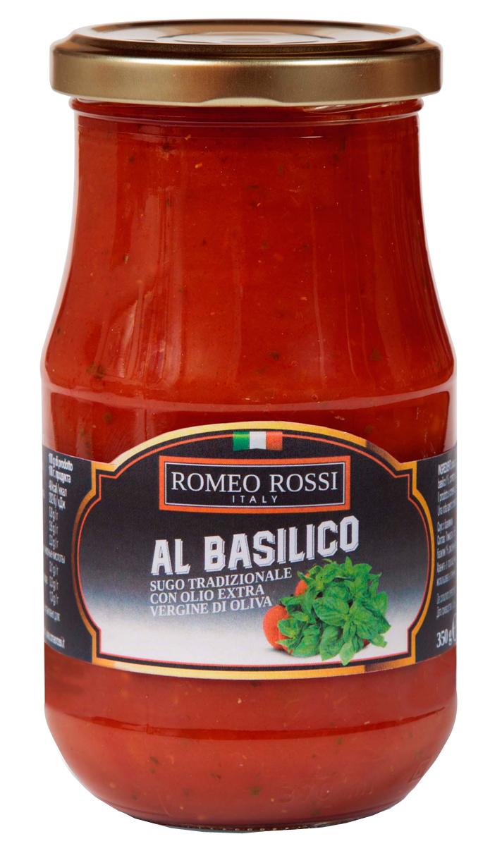 Romeo Rossi соус томатный для пасты с базиликом, 350 г romeo rossi соус томатный для пасты овощной 350 г