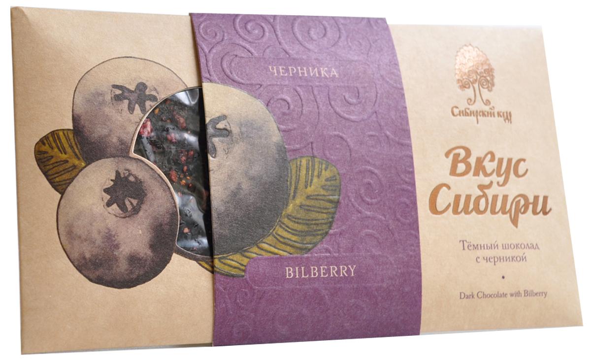 Сибирский Кедр шоколад темный вкус Сибири с черникой, 100 г crystal trees кедр сибирский