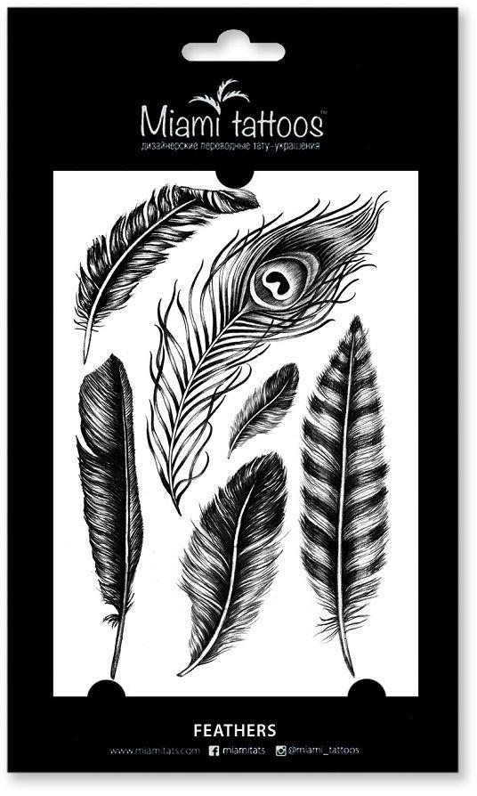 Miami Tattoos Переводные тату Feathers, 1 лист, 10 см х 15 см miami tattoos акварельные переводные тату miami tattoos party 1 лист 10 см х 15 см