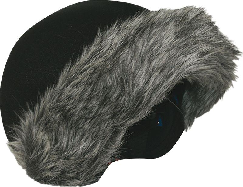"""Нашлемник CoolCasc """"Grey Fur. Серый мех"""", цвет: серый, черный"""