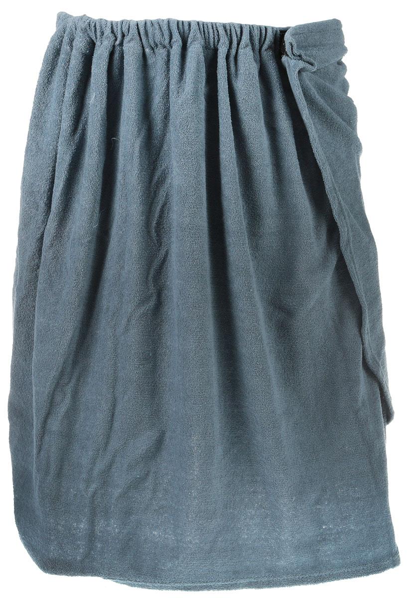 Килт для бани и сауны Главбаня, мужской, цвет: серо-синий, длина 65 см килт для бани и сауны eva мужской цвет оливковый