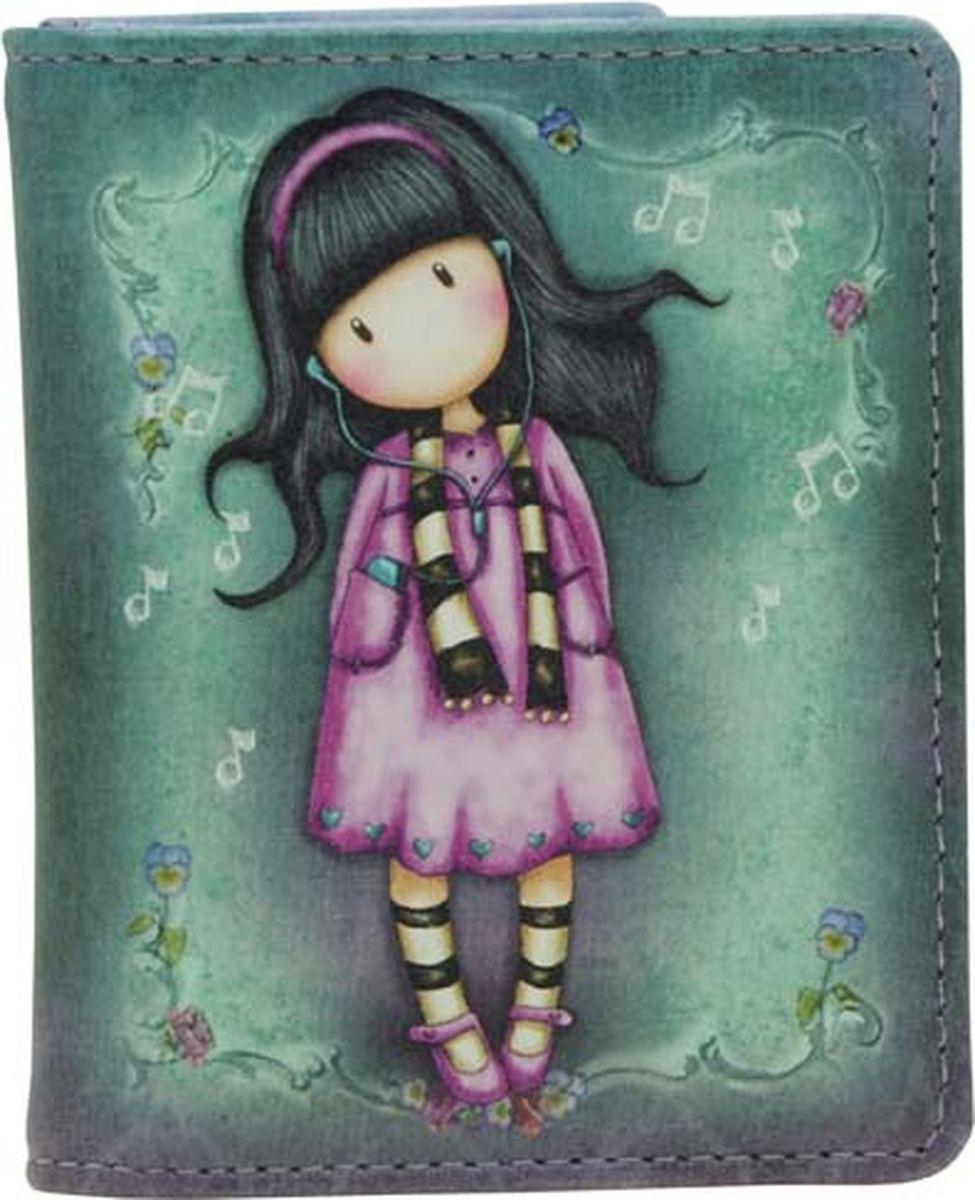 Кошелек Santoro Little Song, цвет: зеленый, розовый. 0012543 santoro london блокнот we can all shine 300 листов