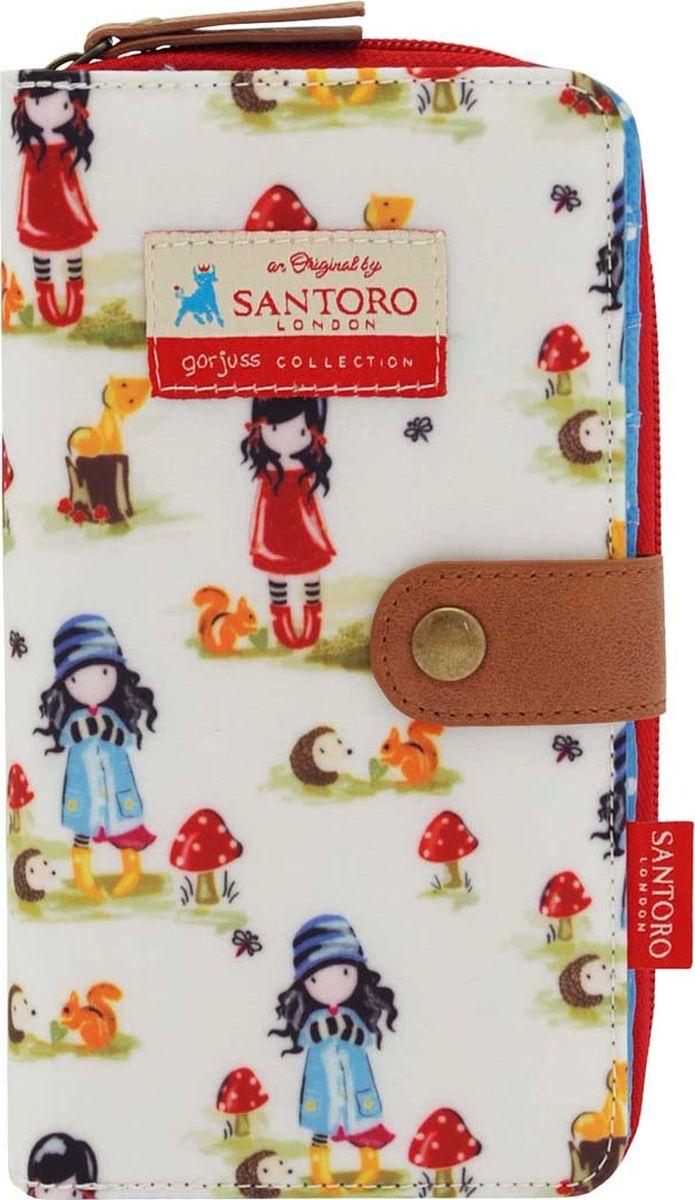 Кошелек для девочки Santoro Toadstools Pastel Pattern, цвет: белый. 0012586