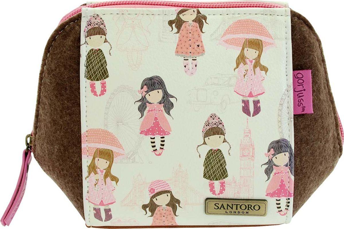 Косметичка для девочки Santoro London, цвет: розовый, коричневый. 0012764 santoro london блокнот we can all shine 300 листов