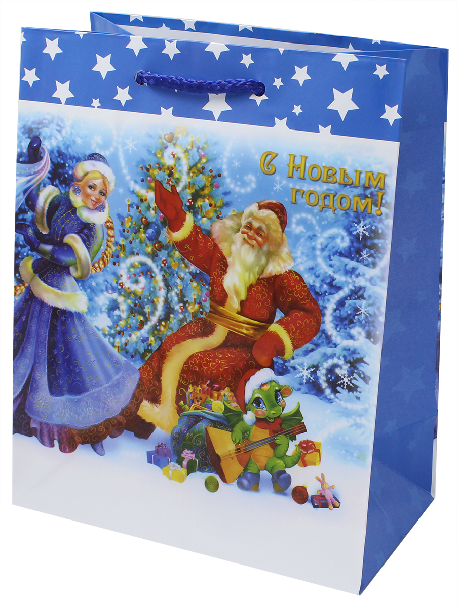 Пакет подарочный Мегамаг, ламинированный, 18 х 22,7 х 10 см . 2223 M пакет подарочный winter wings бумажный ламинированный люкс 32х26х12 см