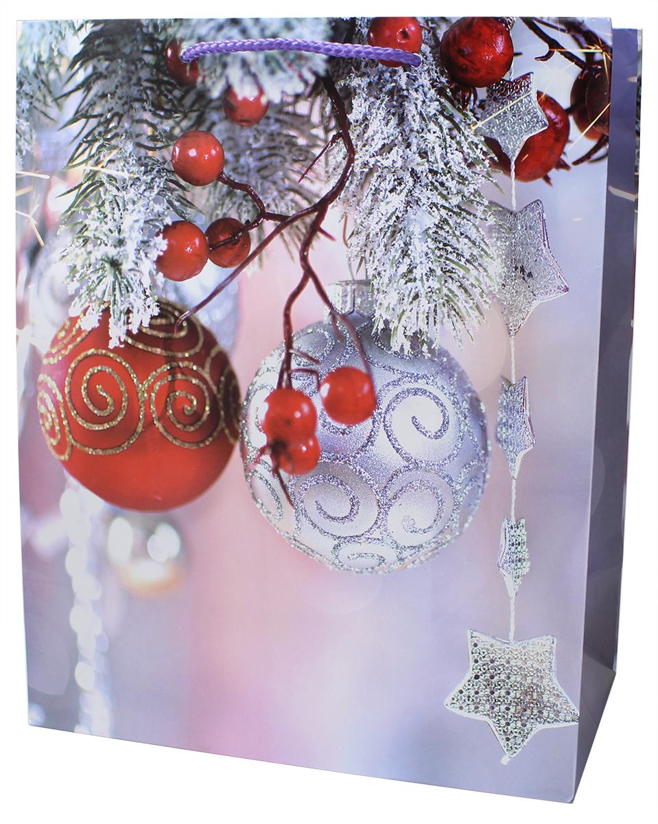 Пакет подарочный Мегамаг, ламинированный, 26,4 х 32,7 х 13,6 см. 3214 L пакет подарочный winter wings бумажный ламинированный люкс 32х26х12 см