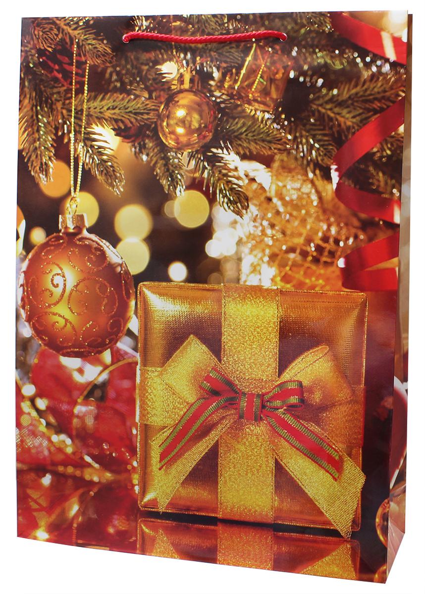 Пакет подарочный Мегамаг, ламинированный, 32,4 х 44,5 х 10,2 см. 5112 XL пакет подарочный бумажный ламинированный люкс 110 140 65 мм 2 вида