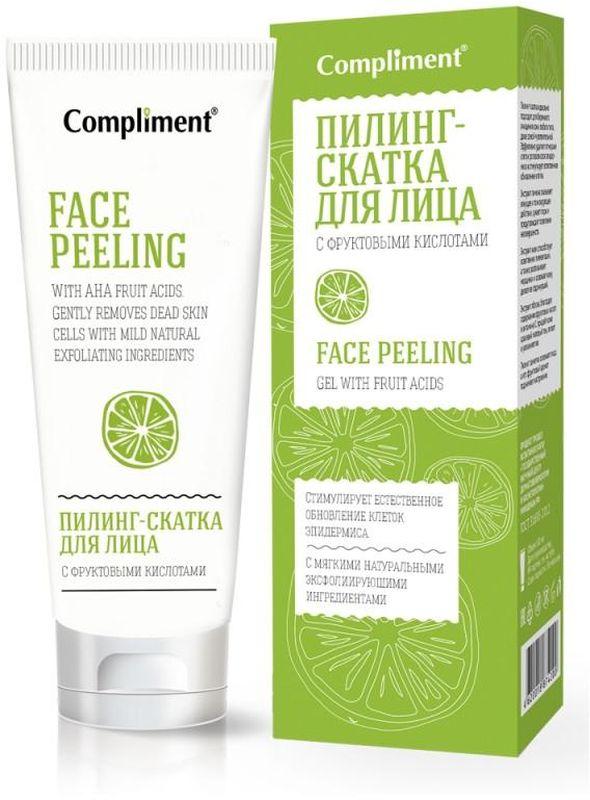 ComplimentПилинг-скатка для лица с фруктовыми кислотами, 80 мл Compliment