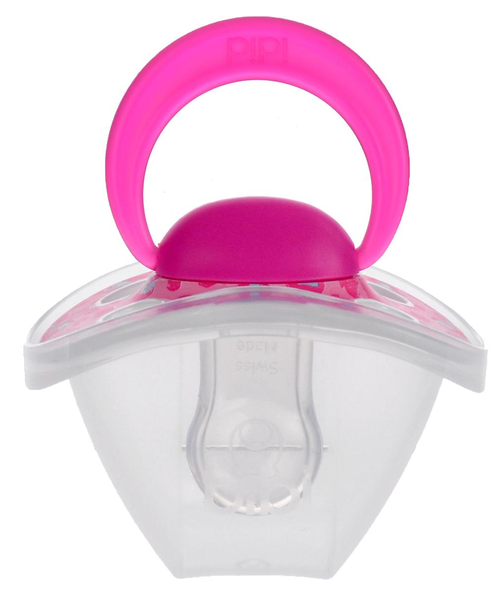 Bibi Пустышка силиконовая Happiness Ring Wild Baby от 0 до 6 месяцев цвет розовый