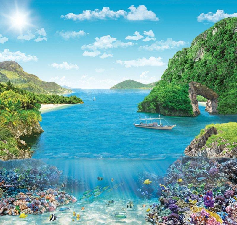 Фотообои Твоя планета Коралловый риф, 204 х 194 см, 6 листов liu jo junior 877645