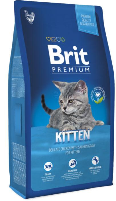 Корм сухой Brit Premium для котят, беременных и кормящих кошек, с курицей, 300 г корм brit ягненок 340g 29419 для котят