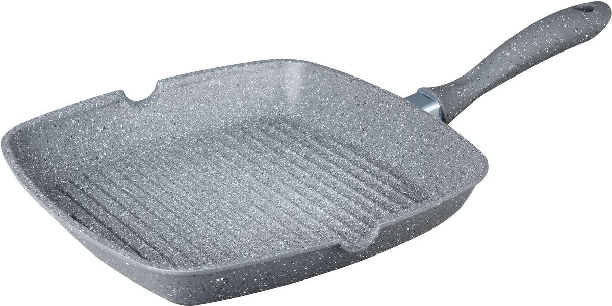 Cковорода-гриль Bekker Silver Marble с антипригарным покрытием, 28 х 28 см. BK-7915 цена