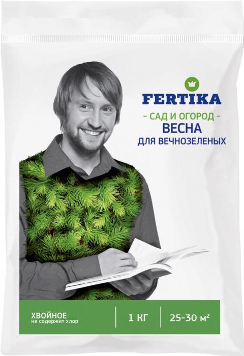 Удобрение Фертика Хвойное, для вечнозеленых, весна, 1 кгBi-fertika0005УДОБРЕНИЕ ДЛЯ ХВОЙНЫХ NPK 8:5:14+MG+S+FE ВЕСНА. • Комплексное гранулированное удобрение пролонгированного действия. • Безопасные для рук гранулы GrowHow Touch. • Способствует отличному росту всех хвойных растений, рододендронов, азалий, гортензий, альпийской розы, садовой черники и др. в постоянно меняющихся климатических условиях. • Специально разработано для растений, которые нуждаются в кислой почве. • Понижает рН почвы до уровня, необходимого для данного вида растений. • Обеспечивает изумрудный цвет для хвойных растений благодаря повышенному количеству магния, серы и железа. • Содержит водорастворимый кальций, особенно критичный для вечнозеленых растений – предотвращает пожелтение и гибель кончиков ростков. • Элементы питания идеально сбалансированы и легкодоступны для растений. • Способствует лучшему развитию растений. При посадке растений. Как основное удобрение применяют весной при посадке растений. Гранулы распределяют поверхностно на влажной почве или вносят во влажный грунт при перекопке. При посадке и подкормке на 1 растение З0 – 40 г. В период вегетации. Вносят поверхностно во влажную почву с последующим ее рыхлением. Подкормку проводят 1 – 2 раза за период вегетации в зависимости от почвенного плодородия и агроклиматических условий. При поверхностном внесении 60 г/кв. м. Применять в сухом виде, не растворяя в воде! Объем пакета рассчитан на 60 – 70 кв. м. Рекомендуем!