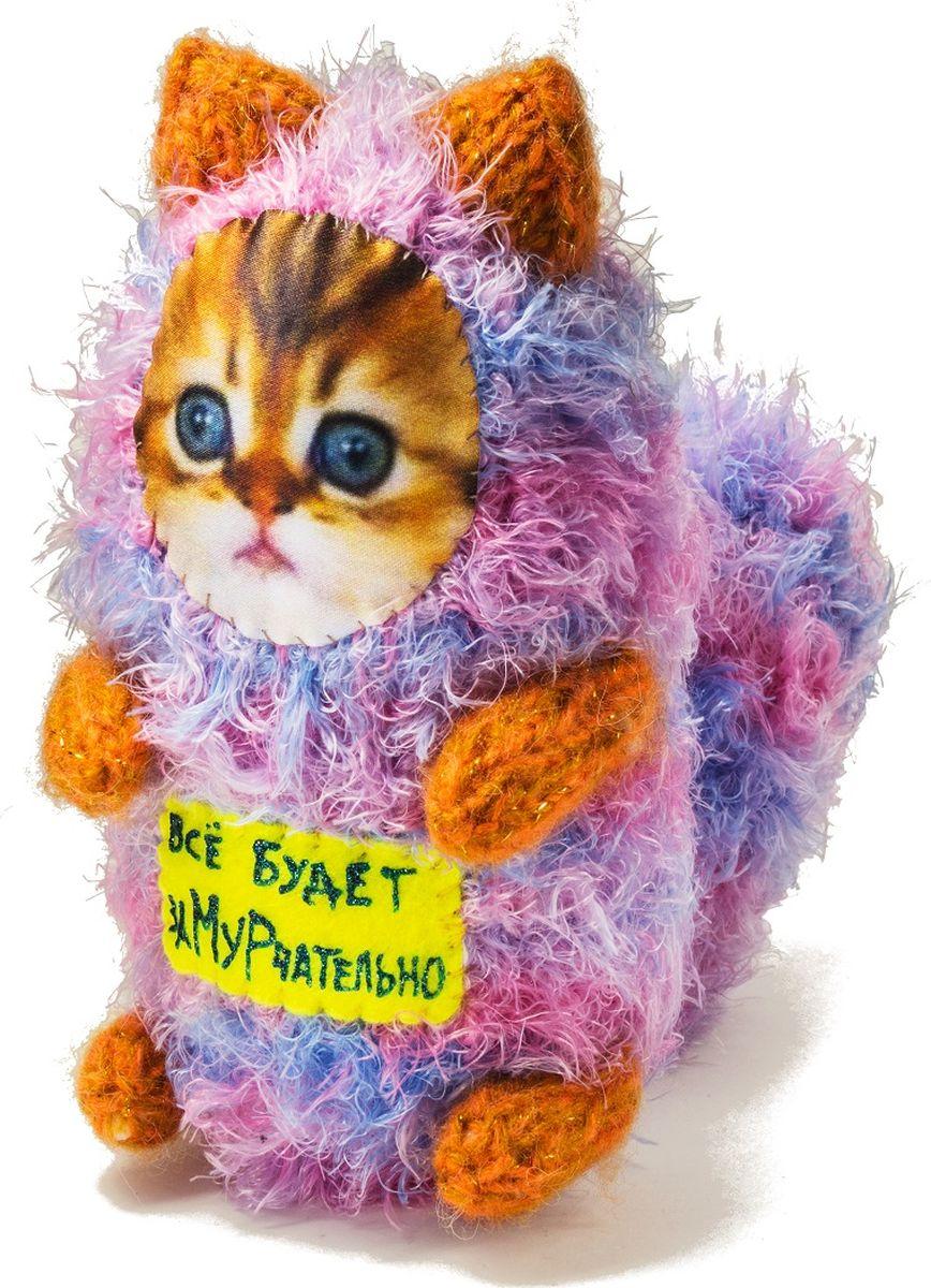 """Мягкая игрушка Бюро находок """"Котик. Все будет замурчательно"""", цвет: розовый"""