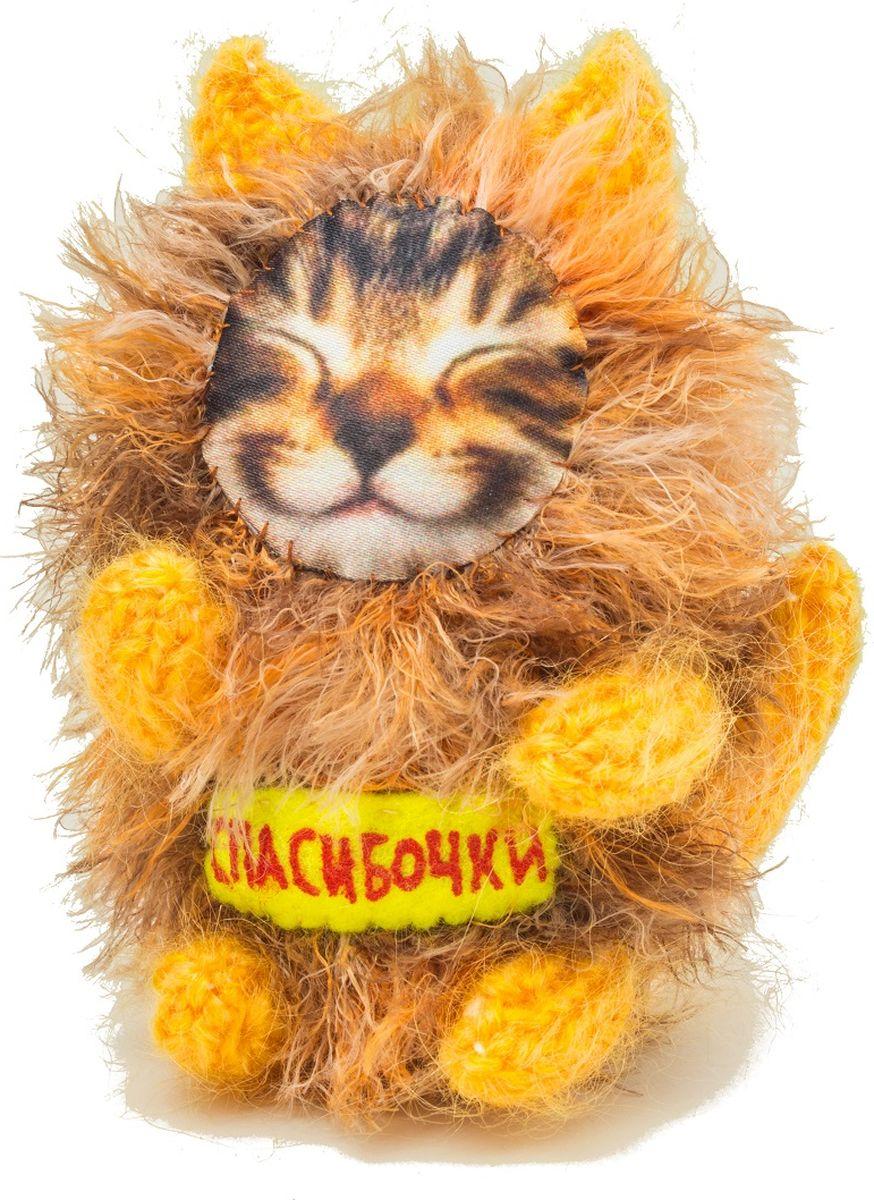 "Мягкая игрушка Бюро находок ""Котик. Спасибочки"", цвет: оранжевый"