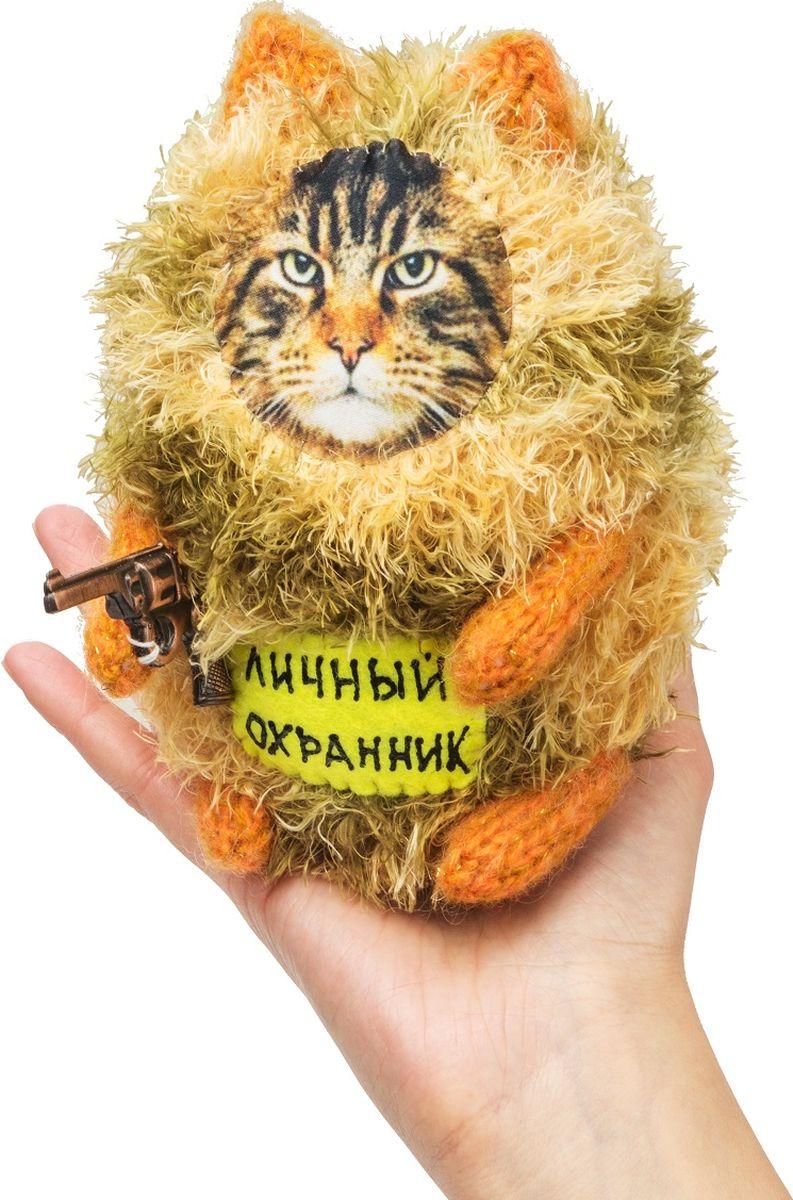 """Мягкая игрушка Бюро находок """"Котик. Личный охранник"""", цвет: рыжий"""