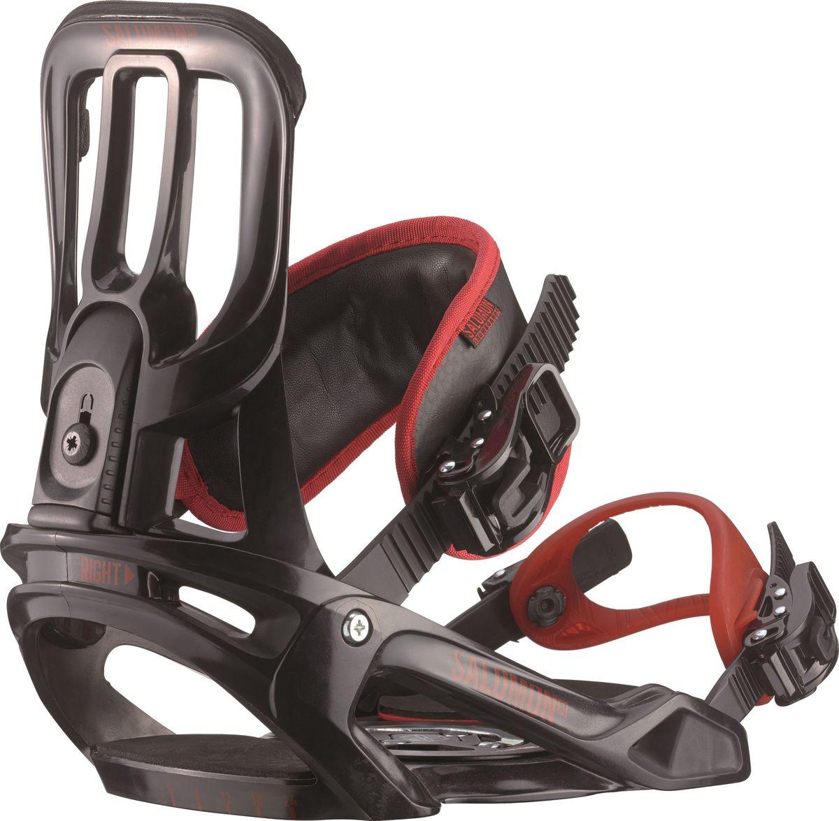 """Крепление для сноуборда Salomon """"Unite"""", цвет: черный, красный. Размер M"""