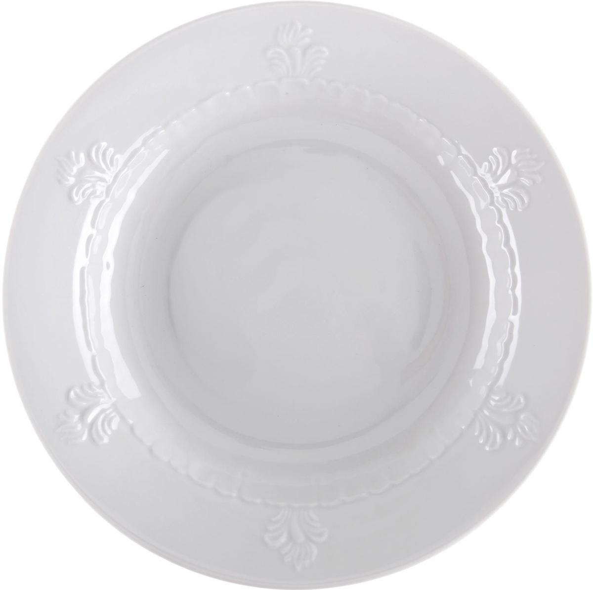 Тарелка глубокая Фарфор Вербилок, диаметр 23,5 см. 1344134 блюдо для яиц фарфор вербилок розовые герберы 26351660уп