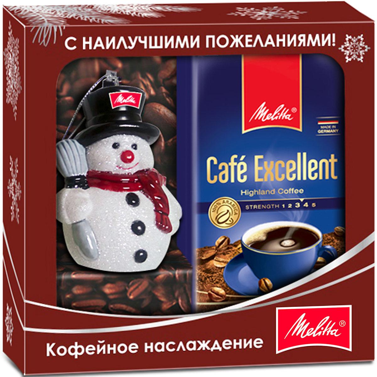 Melitta кофе Excellent, молотый, новогодняя игрушка в подарок, 250 г melitta кофе bellacrema espresso молотый со стеклянной сахарницей в подарок 250 г