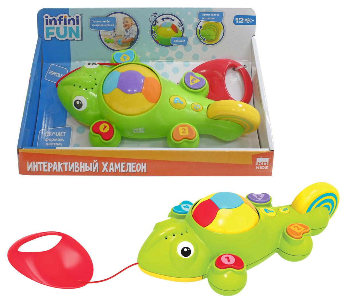 купить 1TOY Игрушка-каталка Kidz Delight Интерактивный хамелеон по цене 630 рублей