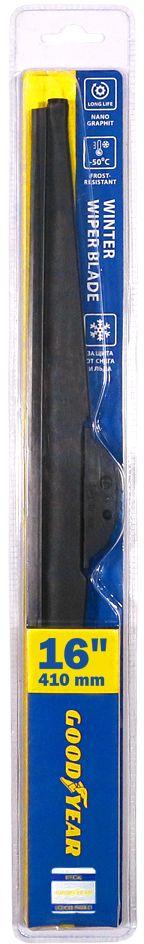 """Щетка стеклоочистителя Goodyear """"Winter"""", зимняя, 4 переходника, 16"""" (410 мм)"""