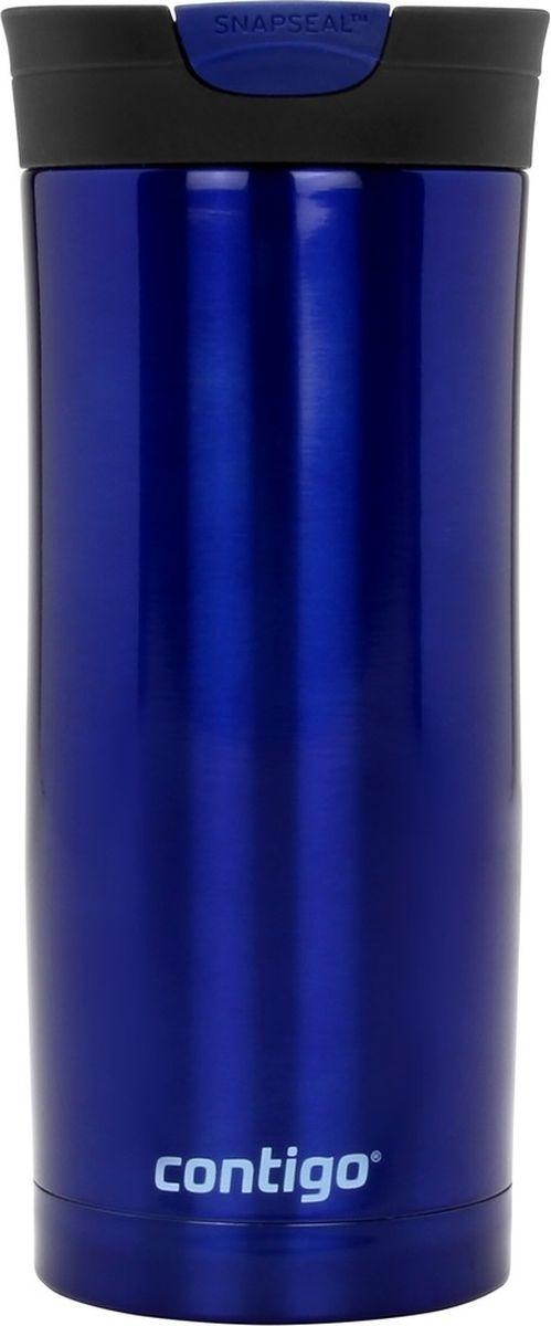 Термокружка Contigo Huron, цвет: синий, 470 мл contigo детский стакан для воды floating straw tumbler с трубочкой цвет голубой 470 мл