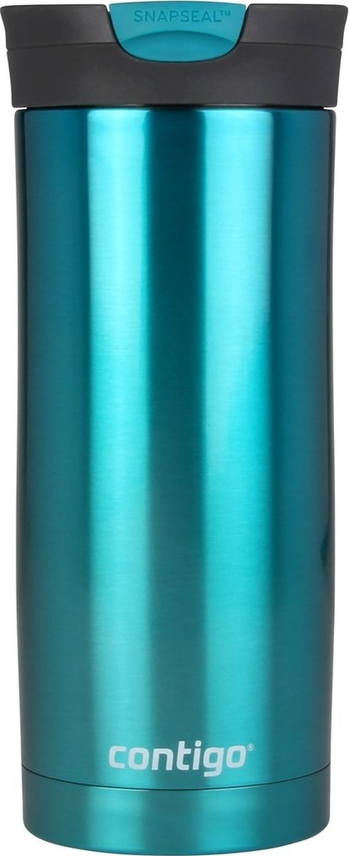 Термокружка Contigo Huron, цвет: бирюзовый, 470 мл термокружка contigo huron цвет винный 470 мл