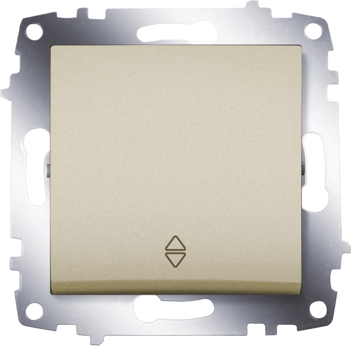 Переключатель ABB Cosmo, одноклавишный, схема 6, цвет: титаниум цена