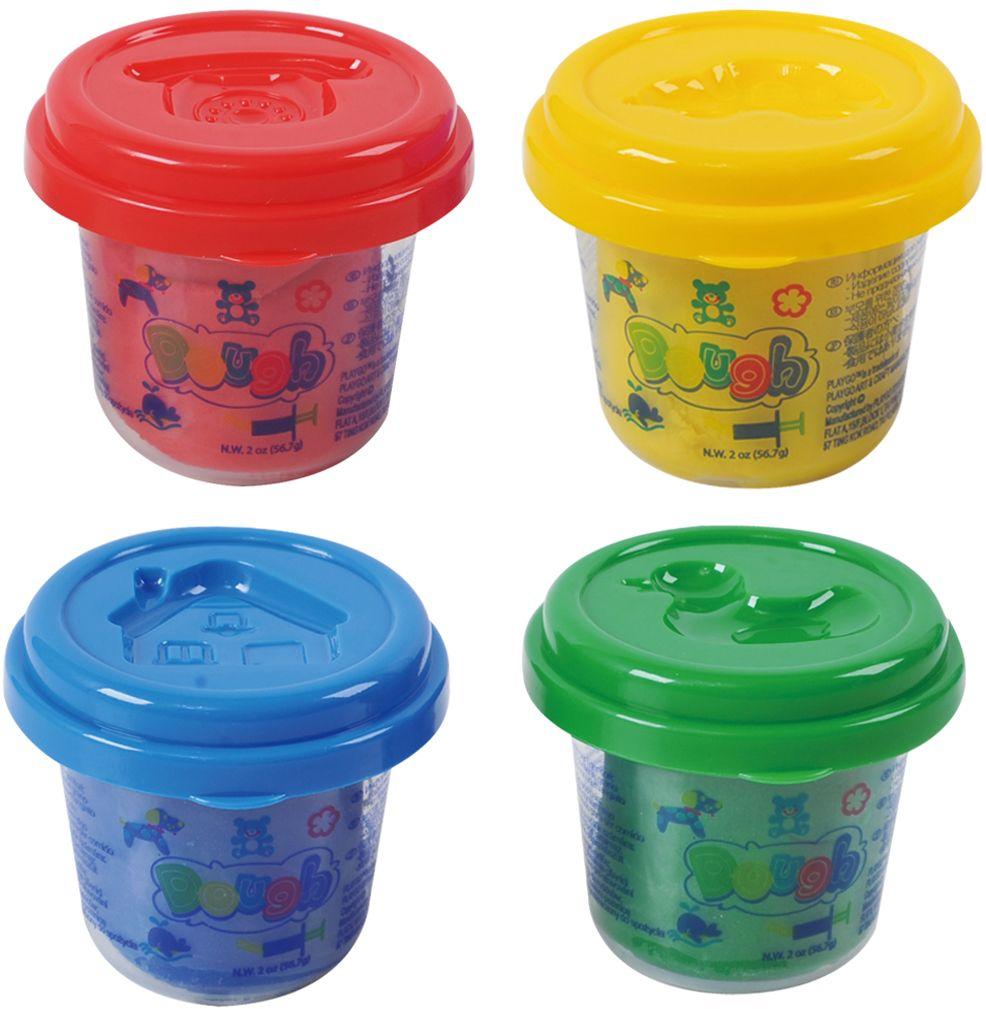Playgo Пластилин Dough 4 цвета набор с пластилином playgo мульти
