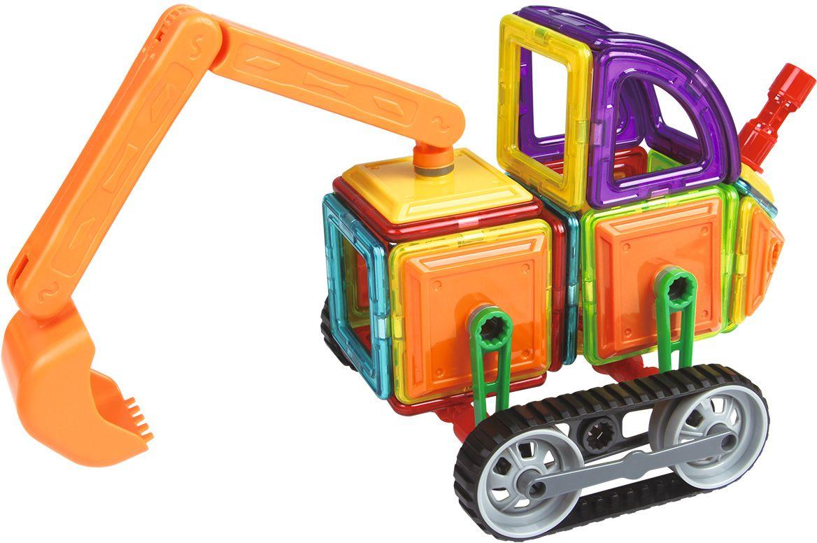 Умный Шмель Магнитный конструктор Экскаватор 78 деталей конструктор метал экскаватор 129 деталей 01108