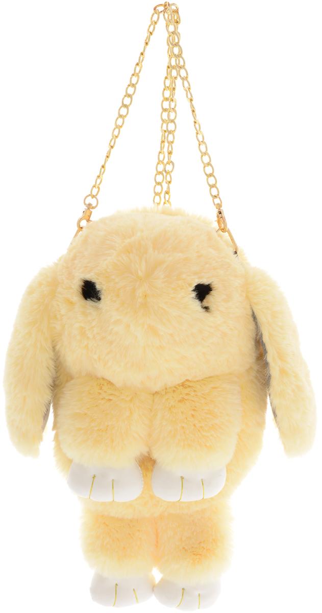 Vebtoy Рюкзак дошкольный Пушистый кролик цвет персиковый