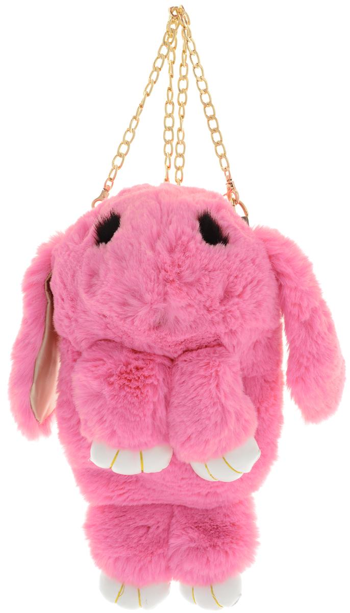 Vebtoy Рюкзак дошкольный Пушистый кролик цвет розовый