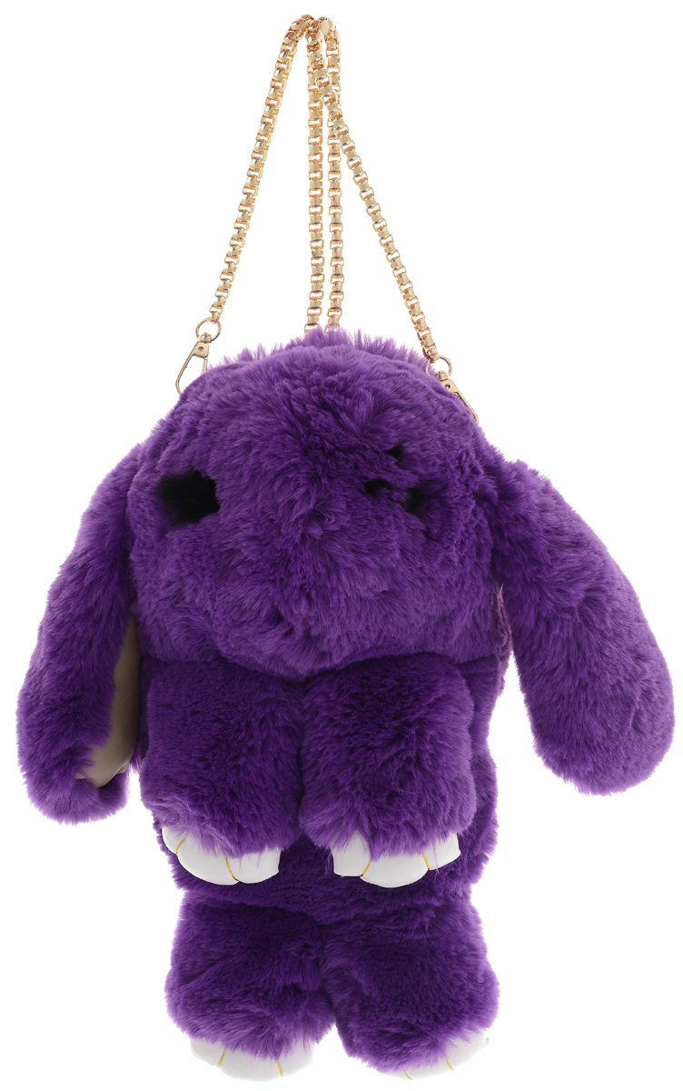 Vebtoy Рюкзак дошкольный Пушистый кролик цвет фиолетовый