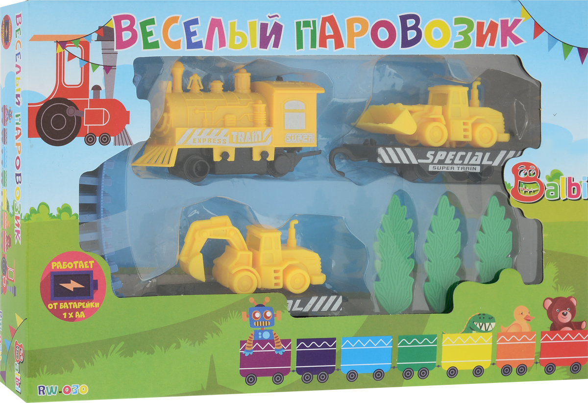 Balbi Железная дорога Веселый паровозик цены