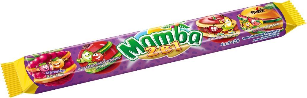 лучшая цена Mamba 2 в 1 жевательные конфеты, 106 г