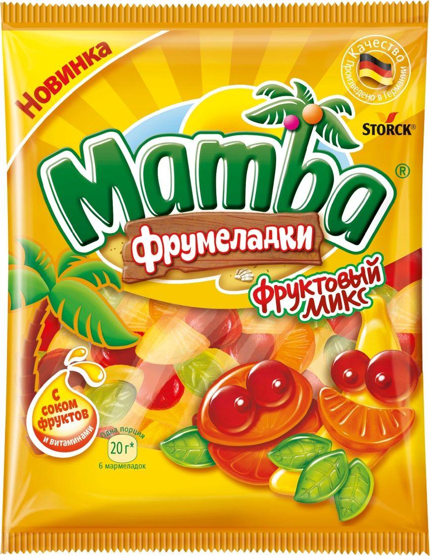 Mamba Фруктовый микс жевательный мармелад, 72 г жевательный мармелад mamba фруктовый микс 24 шт х 72 г