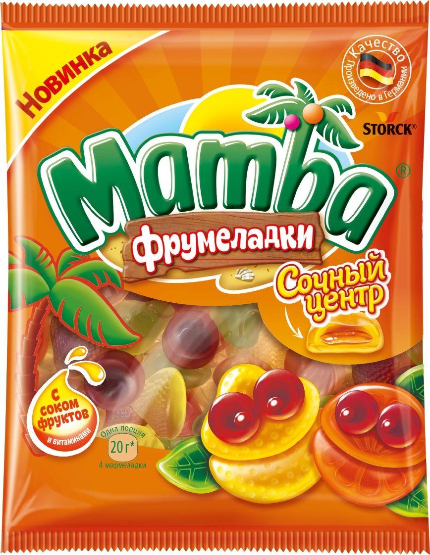 Mamba Сочный центр жевательный мармелад, 70 г жевательный мармелад mamba фруктовый микс 24 шт х 72 г