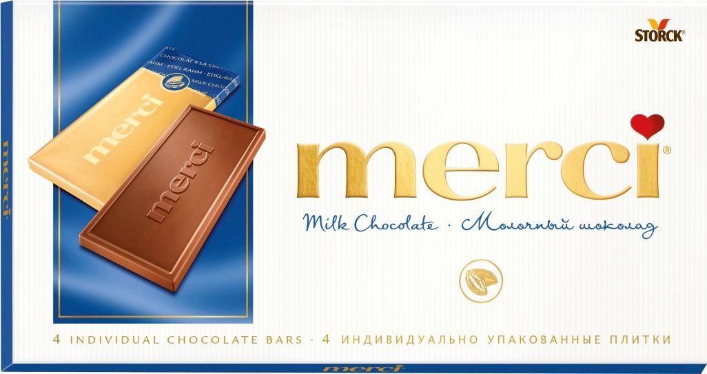 Merci Шоколад молочный, 100 г шоколад merci горький 72%