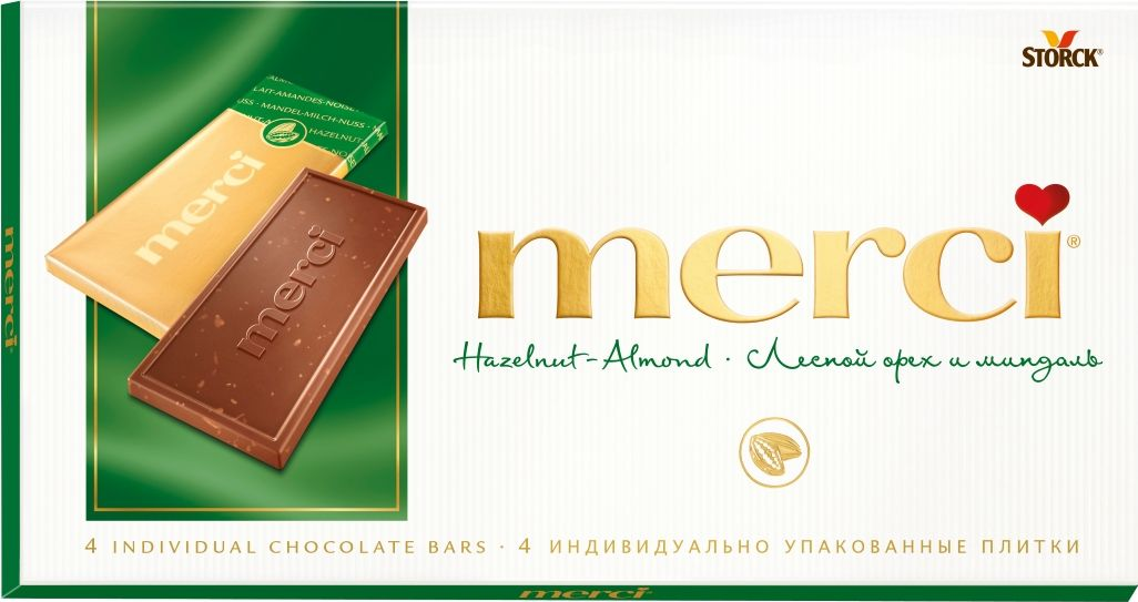 Merci Шоколад лесной орех и миндаль, 100 г шоколад merci горький 72%