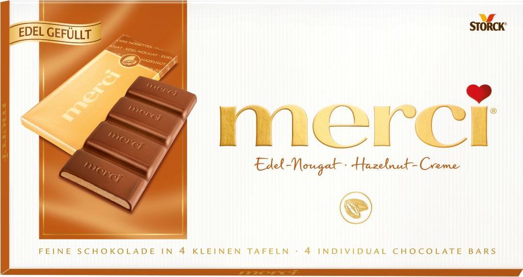 Merci Шоколад с ореховым кремом, 112 г недорого