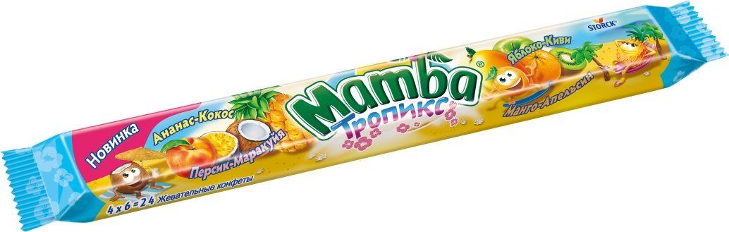 Mamba Тропикс Жевательная конфета, 106 г цена