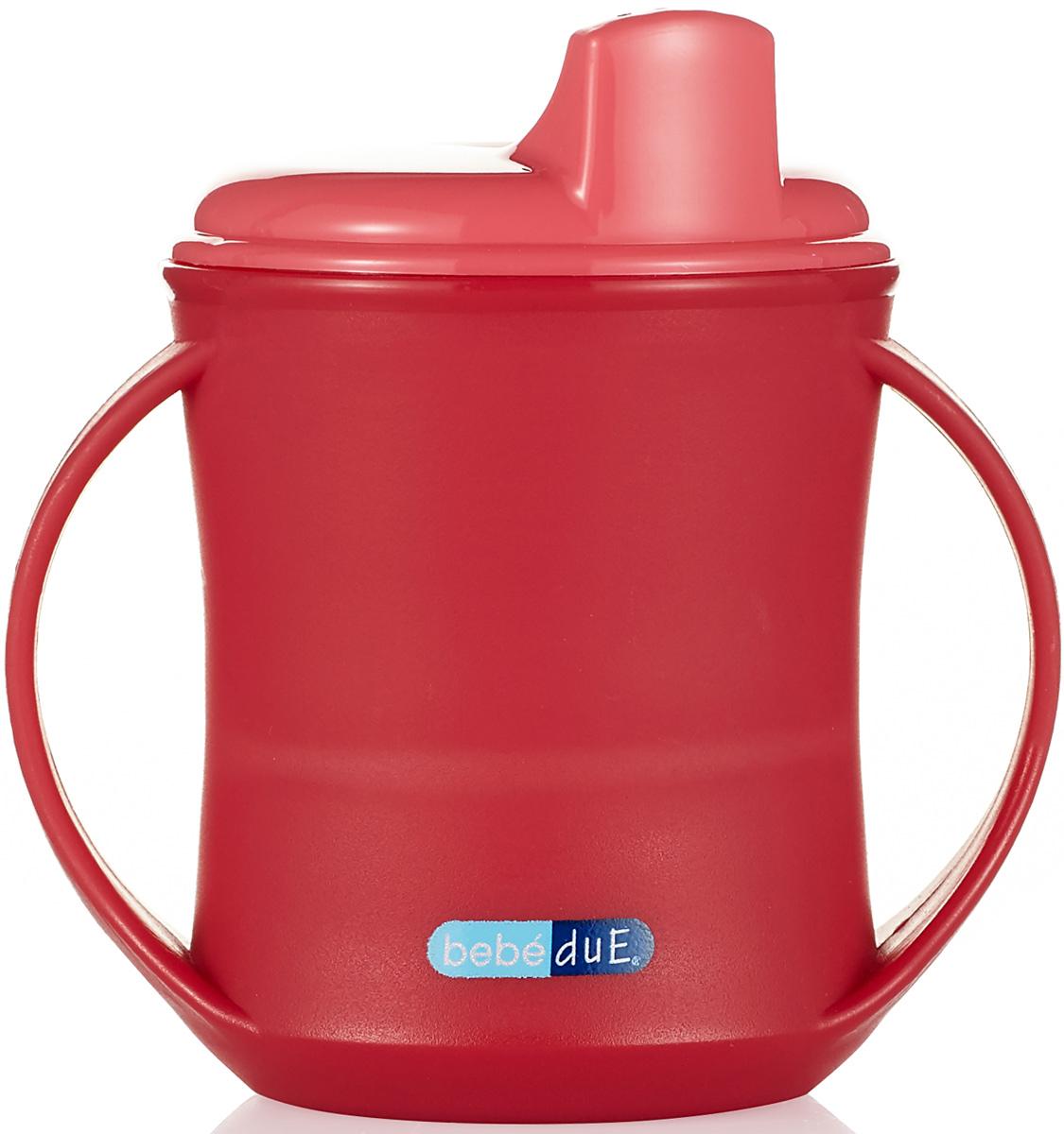 Bebe Due Чашка-поильник 2в1 210 мл цвет розовый красный с 18 месяцев цена