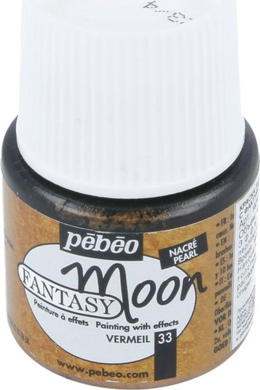 Pebeo Краска Fantasy Moon с фактурным эффектом цвет 167033 под бронзу 45 мл